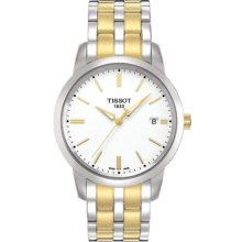 Tissot T0334102201101 Watch Classic Dream Mens - White Dial Stainless Steel Case Quartz Movement