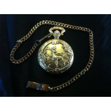 Vintage Milan Quartz ornate Pocket Watch