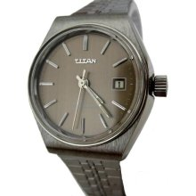 Vintage New old stock automatic Titan stainless steel Swiss watch