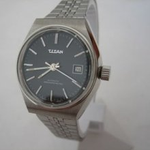 Vintage Titan Watch Auto Swiss Date