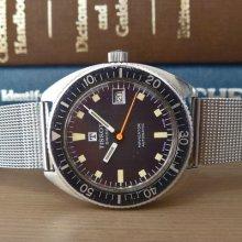 1972 Tissot [swiss] 'navigator' Tropical Dial Vintage Diver Watch Eta Cal. 2481