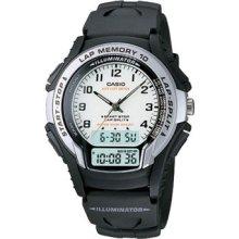 Casio Gear Watch Ws-300-7bv Black White Lap Memory 100m Wr (ws300-7bv)