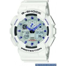 Casio Gshock Xlarge White Limited Watch Ga100a-7a