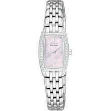 Citizen Eco-Drive Silhouette Crystal Ladies Stainless Steel Watch