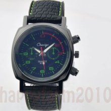 Dial Fashion Casual Sport Mens Boys Jelly Quartz Clock Rubber Wrist Watches