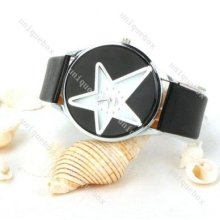 Fashion Women Lady Leather Band Analog Quartz Classic Wrist Watch Elegant