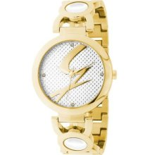 Gattinoni Women's Goldtone Steel Zircon Watch ...