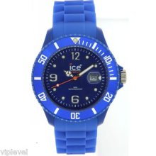 Ice Watch Sibebs09 Blue Sili Collection Unisex Watch 43mm Fast Ship