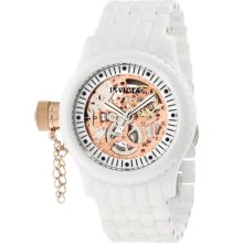 Invicta 1898 Women's Russian Diver Lefty Rose Gold Tone Skeleton Dial