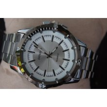 Luxury Fashion Men's Watches Stainless Steel Wrist Watch Quartz Analog Round