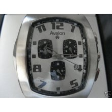 Mens Avalon Chronograph Watch Silvertone