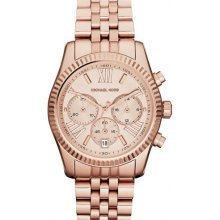 Michael Kors Lexington Rose Gold Stainless Steel Bracelet Ladies Watch MK5569