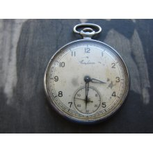 RARE Vintage Soviet Union Pocket watch SALUT USSR era pocket watch Russian Pocket watch like Molnija Made in 1954y