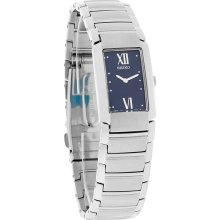 Seiko Quartz Ladies Blue Dial Stainless Steel Dress Bracelet Quartz Watch SUJ655