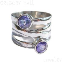 Sterling Silver 925 Amethyst Gemstone Wedding Band Bands Engagement Rings Ring Jewelry Jewellery SSR-336