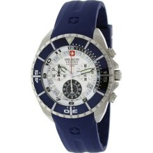Swiss Military Hanowa Men's Sealander 06-4096-04-001-03 Blue Rubber Quartz Watch with White Dial