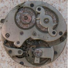 Vintage Pocket Watch Movement & Dial 45,5 Mm Balance Ok. To Restore Or Parts