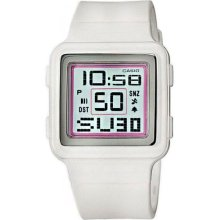White Poptone World Time Alarm Wr 50m Casio Womens Watch Ldf-20-7avdr