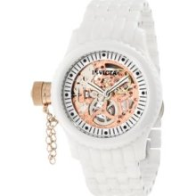 Women's 1898 Russian Diver Mechanical Rose Gold Tone Skeleton Dial