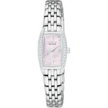 Womens Citizen Ecodrive Silhouette Crystal Watch In Stainlesssteel(eg2740-53y)