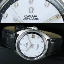 1964s Vintage Omega Seamaster Automatic Date Diamond Dial Mens Wrist Watch Uhr