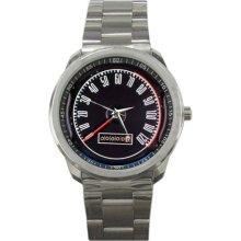 1967 Ford Mustang GT500 Speedometer Sport Metal Watch - Stainless Steel
