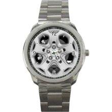 2012 Ford fusion 4-door-sedan-se-fwd Wheel Sport Metal Watch - Stainless Steel