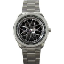 2012 Ford Mustang Blue-Angels-edition Rims Wheel Sport Metal Watch - Stainless Steel