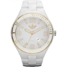 Adidas Unisex Originals ADH2687 White Plastic Quartz Watch with White