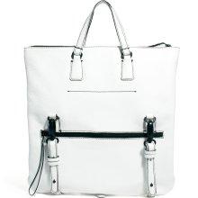 ASOS Premium Leather Tote Bag White