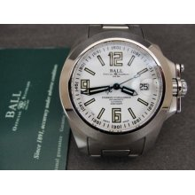 Ball 300m 2892a2 21 Jewels Swiss Stainless Steel Automatic Mens Watch W/ Card