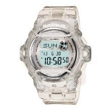 Casio Baby Digital Sport Transparent Clear Syurdy Women's Watch Alarm Cool