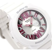 Casio Baby-g, Analog-digital, Neon Illuminator, Bga160 Bga-160-7b2, White