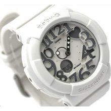 Casio Baby-g, Bga134 Bga-134-7b, Multi-dimensional, Neon Illuminator, White