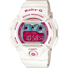 Casio Baby World Time Digital Ladies Watch Bg-1005m-7 Lady's Watch White Clean