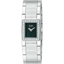 Citizen Ladies Eco-drive Silhouette Stainless Steel Crystal Watch Sy2030-54e