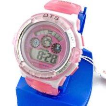 Digital Sports Ladies' Kids Date Light Watch 833 Pink