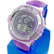 Digital Sports Ladies' Kids Date Light Watch 833 Purple