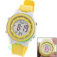 EL Light Kids Children's Digital LCD Sports Watch Yellow