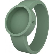 Fullspot O Clock Unisex Quartz Watch With White Dial Analogue Display And Green Silicone Bracelet Ocs25-M