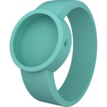 Fullspot O Clock Unisex Quartz Watch With White Dial Analogue Display And Turquoise Silicone Bracelet Ocs26