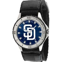 Game Time Official Team Colors. Mlb-Vet-Sd Men'S Mlb-Vet-Sd Veteran Custom San Diego Padres Veteran Series Watch