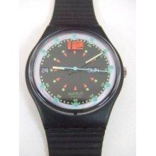 Gb724 Swatch - 1992 Batticuore Date Day Hands Glow