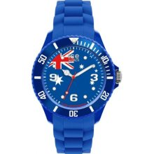 Ice-Watch Unisex Quartz Watch With Blue Dial Analogue Display And Blue Silicone Strap Wo.Au.B.S.12