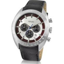 Kenzo Designer Men's Watches, Koukan - Men's Black Chronograph Date Watch