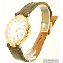 Lassale by Seiko 3J vintage quartz wrist watch with date, thin-model round gold-toned & stainless steel case, inscription, white dial