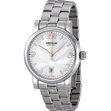 Montblanc Star Date Silver Dial Stainless Steel Automatic Mens Watch 105961
