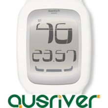 Swatch Touch Watch Surw100 White Swiss Made Day Date Stoper Alarm Timer Core