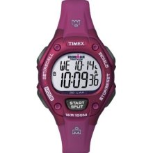 Timex Womens T5k652 Ironman Traditional 30-lap Mid-size Raspberry Resin Strap Wa