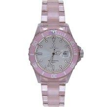 Toy Unisex Round Case Pink Band Quartz Analog Watch 2006pkslp